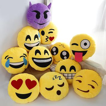 1pcs 30cm emoji pillow cushion decoration decorative pillows Smiley Face Pillow emoticons cushions Classical toys