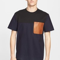 Men's Tim Coppens Colorblock Leather Pocket T-Shirt,