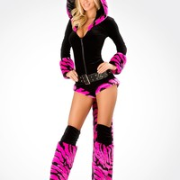 J. Valentine Pink Tiger Romper Costume : Cute Sexy Costumes and Outfits Made in the USA!