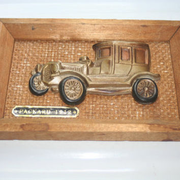 Vintage 1912 Packard Wall Hanging