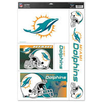 Miami Dolphins Decal 11x17 Ultra