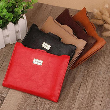 Women's Fashion Wallet Faux Leather Bifold Zipper Credit Cards Holder Slim Purse 9TG4