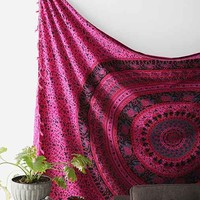 Magical Thinking Desert Medallion Tapestry- Pink One