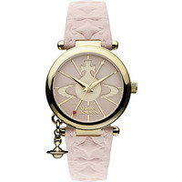 VV006PKPK gold-toned leather watch