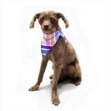 "Ebi Emporium ""Plaid Stripes In Color 5""  Pet Bandana"