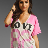 Rebel Yell Love Football Side Tie Tee in Bubblegum from REVOLVEclothing.com