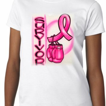Airbrushed Cancer Survivor Boxing Glove Shirt
