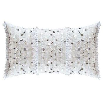 Pre-owned White Berber Wedding Pillow