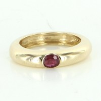 Vintage Ruby 14 Karat Gold Stacking Ring Estate Fine Jewelry Heirloom Pre Owned Sz 6