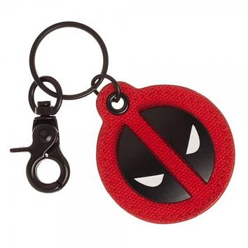 SUPERHERO Deadpool Canvas & Metal Keychain