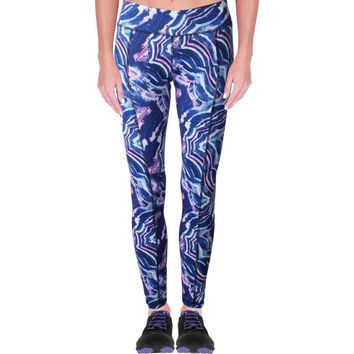 Central Park Womens Printed Quick Dry Athletic Leggings