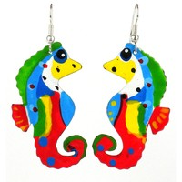 Painted Seahorse Earrings - The Takataka Collection