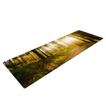 Path In The Woods Yoga Mat