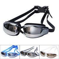 New Men Women Anti Fog UV Protection Swimming Goggles Professional Electroplate Waterproof Swim Glasses gafas