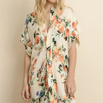 Tropical Paradise Dress - Cream