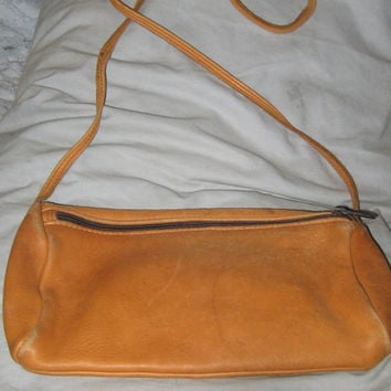 vintage   Genuine Deerskin Leather Shoulder Bag