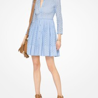 Eyelet Cotton Shirtdress | Michael Kors