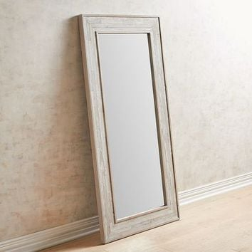 White Floor Mirror