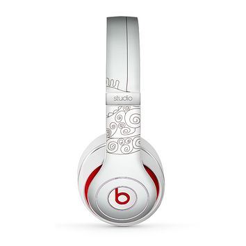 The Simple Vintage Bird on a String Skin for the Beats by Dre Studio (2013+ Version) Headphones