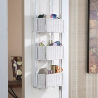 Over-the-Door 3-Tier Basket Storage at Brookstone—Buy Now!