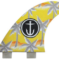 "Captain Fin ""Palm Trees"" 4.65"" Thruster Set"