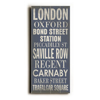 London Wood Sign, Signs