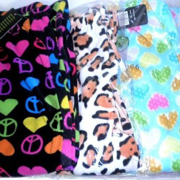 Women's Printed Fleece Sleep Pants