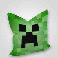 Minecraft creeper, pillow case, pillow cover, cute and awesome pillow covers