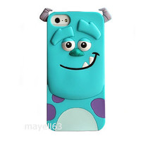 3D CARTOON SULLY MONSTERS INC CUTE SOFT CASE COVER FOR IPHONE 4 / 4s + 5 / 5S