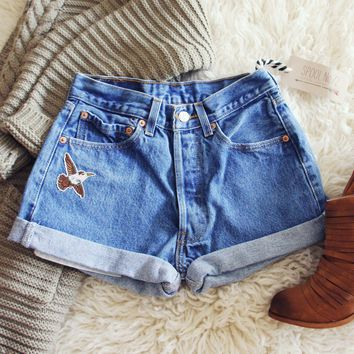 Vintage Cuffed Sparrow Shorts