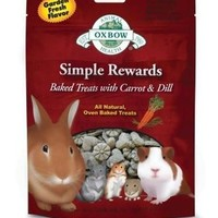 Oxbow Simple Rewards Baked Carrot/Dill Small Pet Treat 2oz