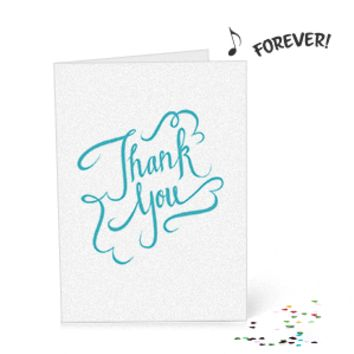 Joker Never-Ending Thank You Card with Glitter