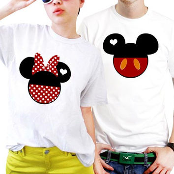 Love Minnie And Mickey Mouse Disney Couples Matching Shirts, Couples T Shirts, Funny Couple Shirts