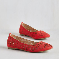Americana Make the Motif of It Flat in Ruby by ModCloth