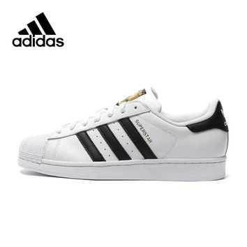 Original New Arrival Official Adidas Clover SUPERSTAR Women's And Men's Skateboarding Shoes Sport Outdoor Sneakers C77124/D70351