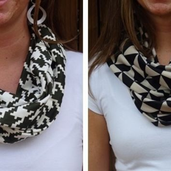 Modern Scarves-4 Designs-Perfect for Gameday & Gifts!