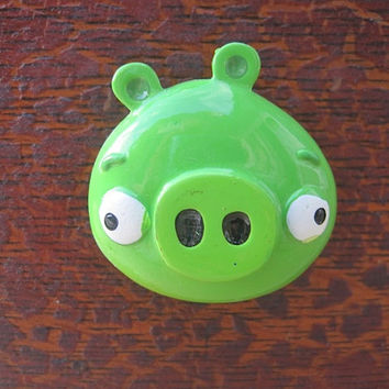 SALE Angry Birds Drawer Knobs made with licensed Green Pig (TK02)