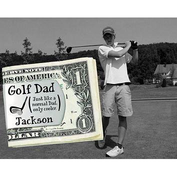 Golf Dad Personalized Money Clip