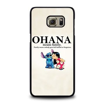lilo and stitch ohana family disney samsung galaxy s6 edge plus case cover  number 1