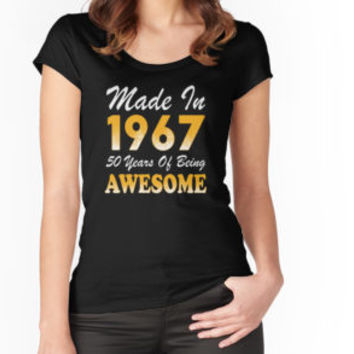 'Made In 1967 50 Years Of Being Awesome' T-Shirt by besttees79