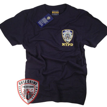NYPD Shirt T-Shirt with Embroidered Logo Officially Licensed Clothing Apparel by The New York City Police Department