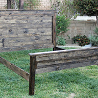 "Rustic Wood Bed 58"" High Tall Boy By Foo Foo La La"