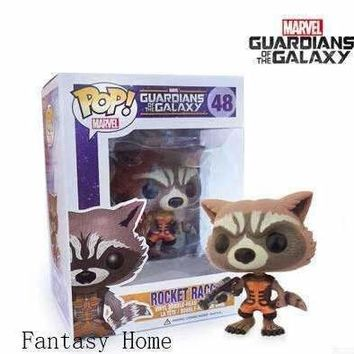 New arrival Genuine funko pop 48 Guardians of the Galaxy Rocket Raccoon action figures 3.75inch vinyl toys free shipping