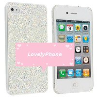 Glitter Sparkle iPhone 4 4S Case Blank, Ready to Deco in two colors