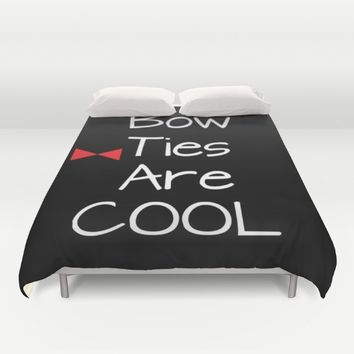 Doctor Who Bow Ties Are Cool Duvet Cover by 2sweet4words Designs