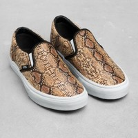 & Other Stories | Vans Classic Slip-On Snake | Brown