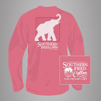 Red, White & Elephant Long Sleeves