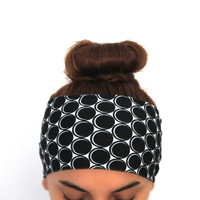 black polka hairband, headbands,Pilates headbands,green headbands,yoga headbands