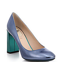Fendi - Two-Tone Metallic Patent Leather Pumps - Saks Fifth Avenue Mobile