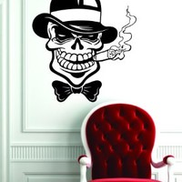 Mafia Cigar Skull Design Decal Sticker Wall Art Vinyl Artwork Mob